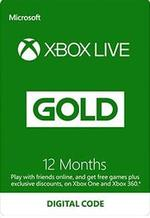 Xbox Live Gold 12 Month Subscription