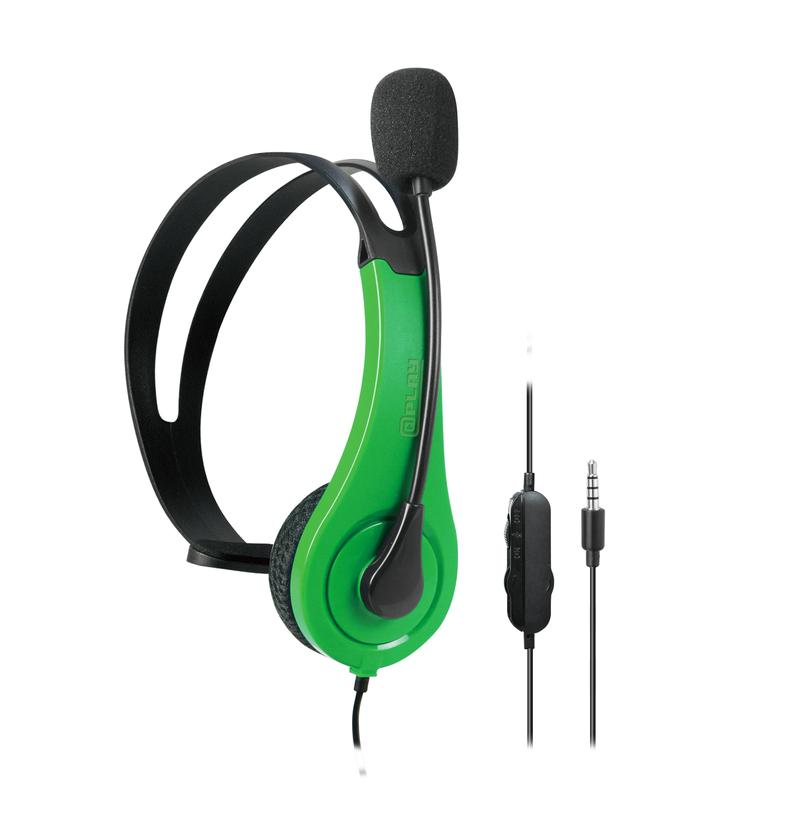 At Play Black/Green Chat Headset till Xbox One