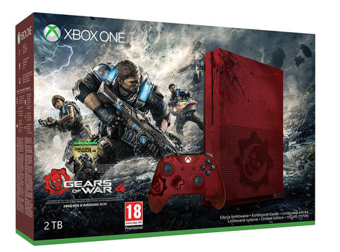 Xbox One S 2TB Gears of War 4 Limited Edition Konsol