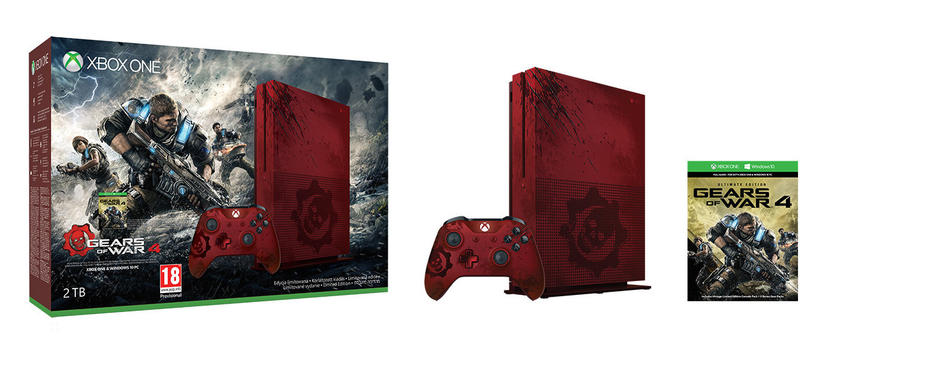 Gears of War 4 Xbox One S 2TB Konsol