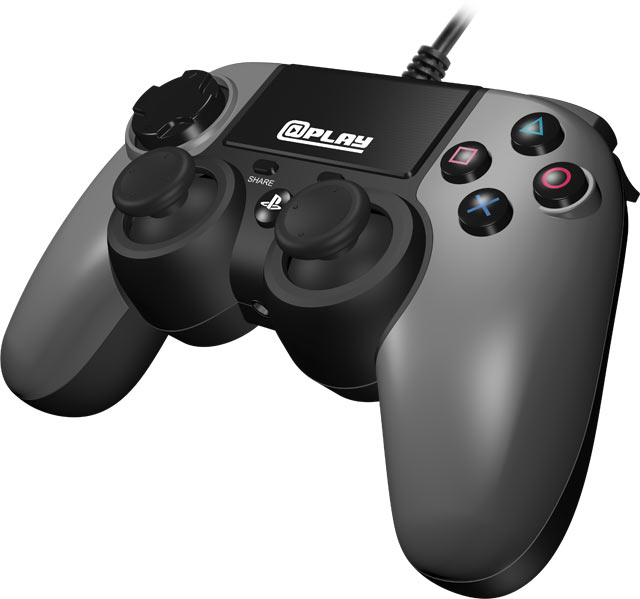 At Play: Wired Grey PS4 Controller