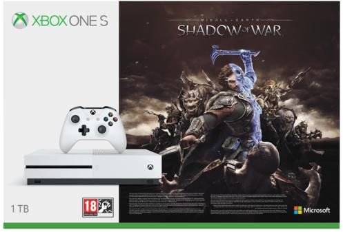 Xbox One S 1TB Middle Earth: Shadow of War Console Bundle [GameStop Exclusive]