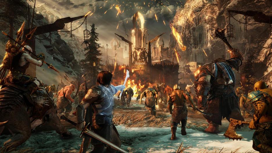 Xbox One S 1TB Konsol och Middle Earth: Shadow of War [Endast Hos GameStop]