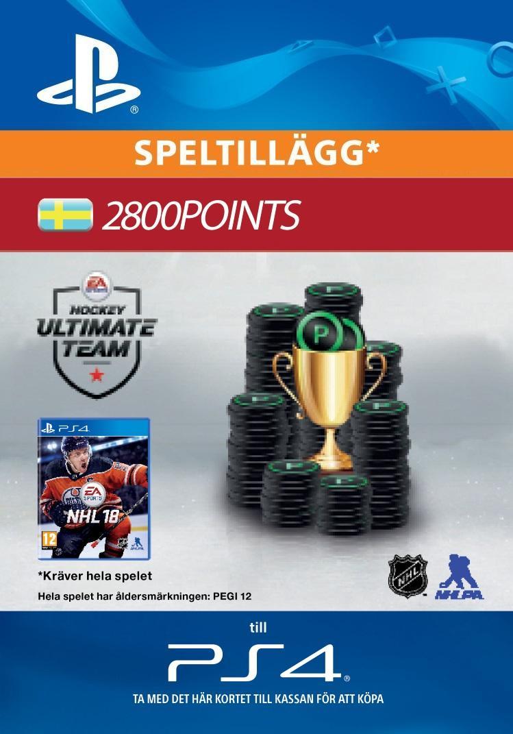 NHL 18: Ultimate Team 2800 Points Till PS4 [DIGITAL]