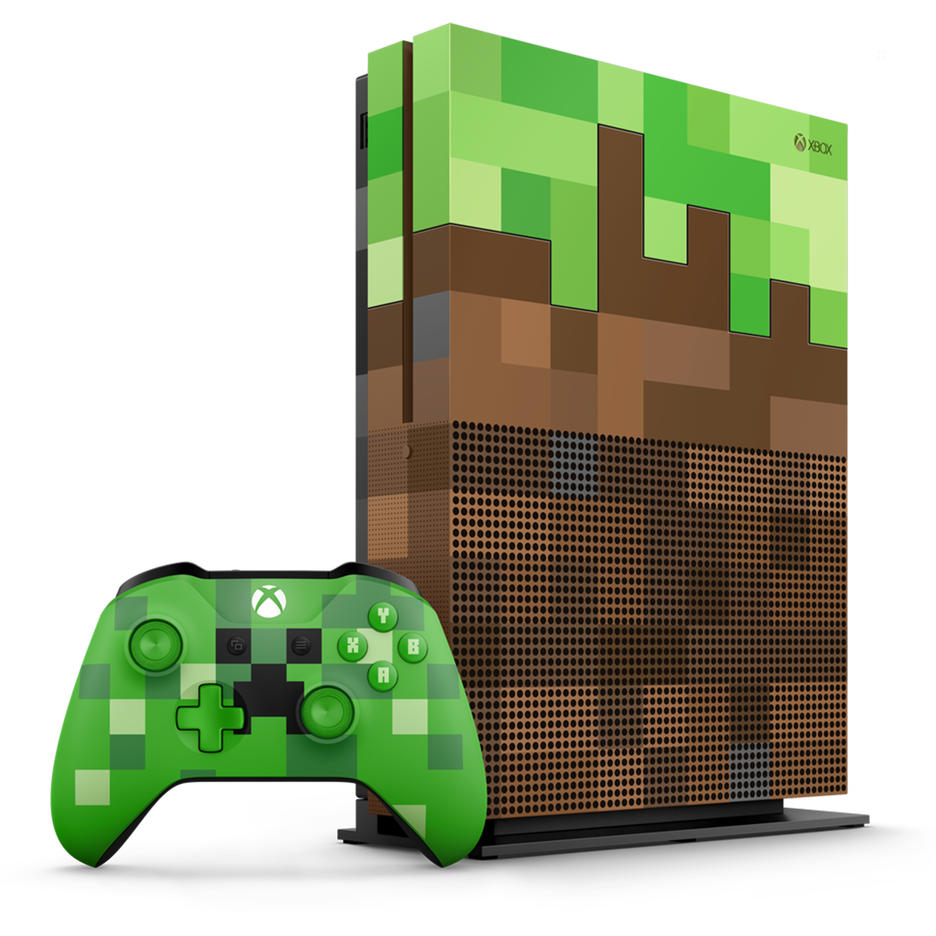 xbox one s 1tb limited edition minecraft console gamestop. Black Bedroom Furniture Sets. Home Design Ideas