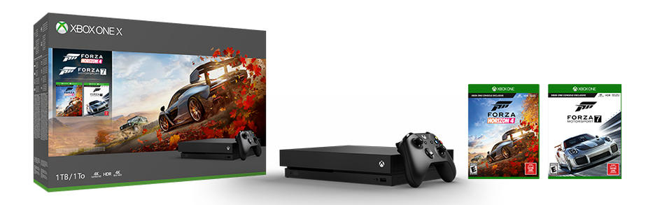 Xbox One X 1TB Konsol och Forza Horizon 4