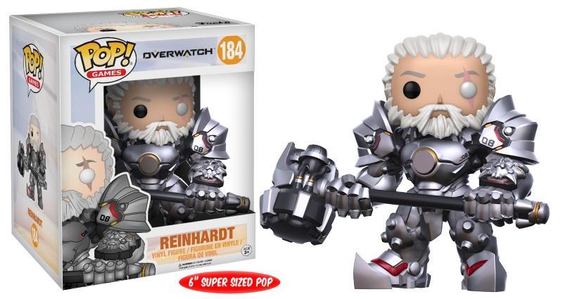 """Pop! Games: Overwatch - Reinhardt 6"""" Unmasked [Endast Hos GameStop]"""