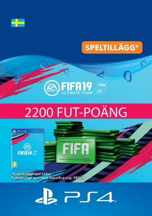 FIFA 19 Ultimate Team™ - 2200 FUT-Poäng Till PS4 [DIGITAL]