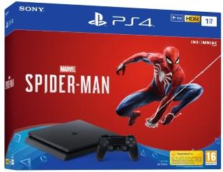 Playstation 4 1TB Konsol och Marvel's Spider-Man