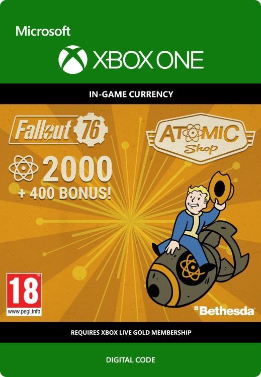 Fallout 76 – 2000 atoms (+400 i bonus) Till Xbox One [DIGITAL]