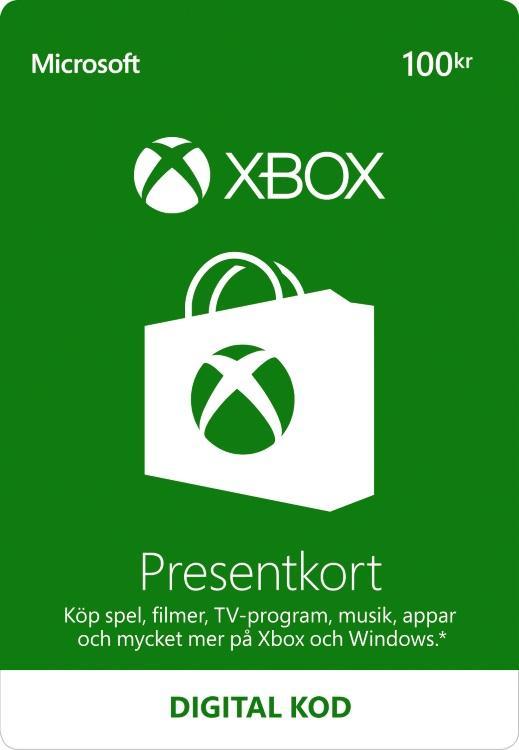 100,00 kr Xbox-Presentkort [DIGITAL]