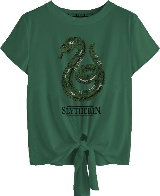 Harry Potter: Slytherin Tied Crop Top [extra large]