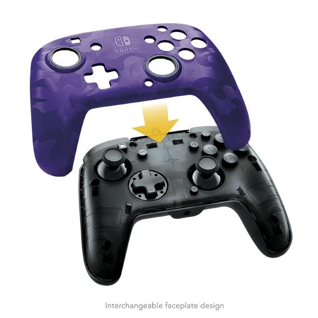 Nintendo Switch Faceoff Deluxe+ Audio Wired Controller - Purple Camo