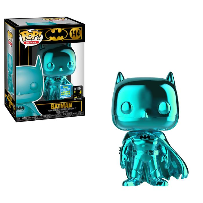 POP Heroes: SDCC 2019 Exclusive DC Comics - Batman (Blue Chrome) [Endast Hos GameStop]
