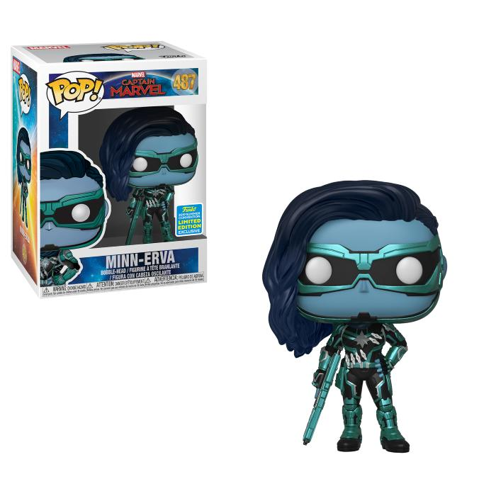 POP Marvel: SDCC 2019 Exclusive Captain Marvel - Minn-Erva [Endast Hos GameStop]