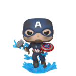 POP Marvel: Endgame - Capt America  with a Broken Shield & Mjolnir
