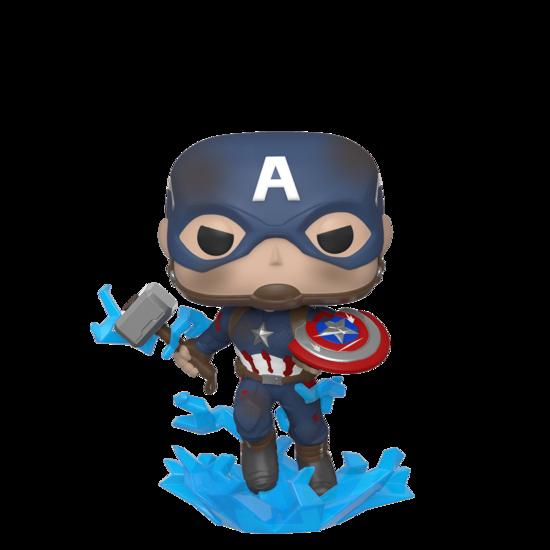 POP Marvel: Endgame - Capt America  with a Broken Shield & Mjolnir