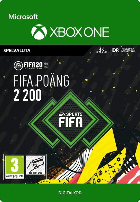 FIFA 20 Ultimate Team™ - 2200 FUT-Poäng till Xbox One [DIGITAL]