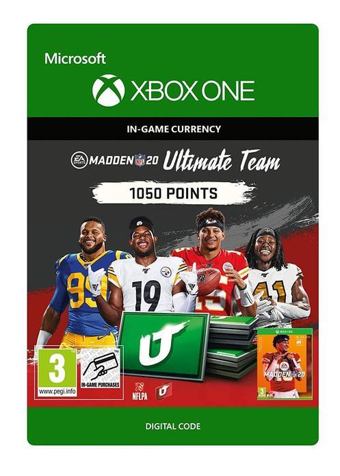 Madden NFL 20 Ultimate Team 1050 Poäng till Xbox One [DIGITAL]