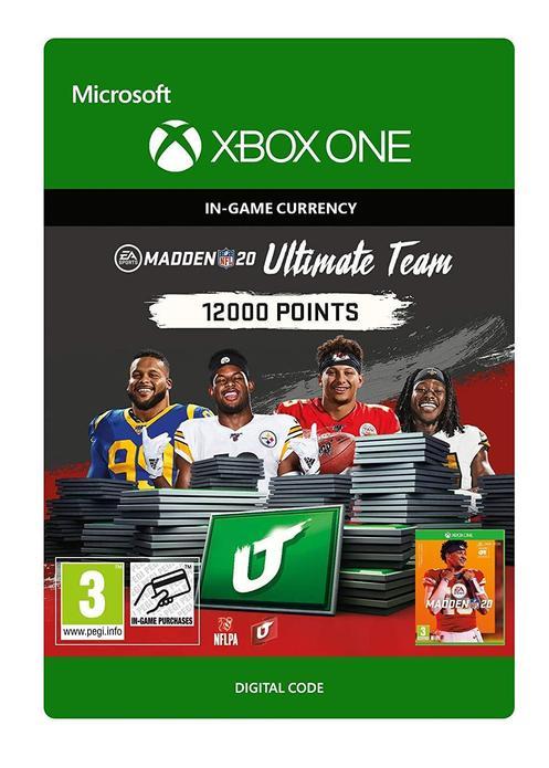 Madden NFL 20 Ultimate Team 12000 Poäng till Xbox One [DIGITAL]